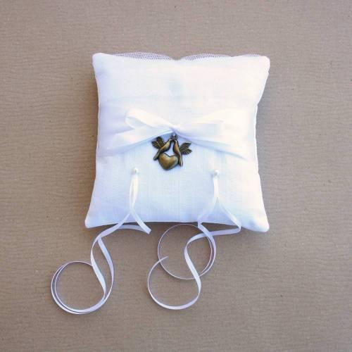 Tenlacum Vintage Perlenkissen Hochzeitsgeschenk Ringkissen Verlobungsgeschenk Ringtr/äger 20x20cm Gold 20 x 20 cm