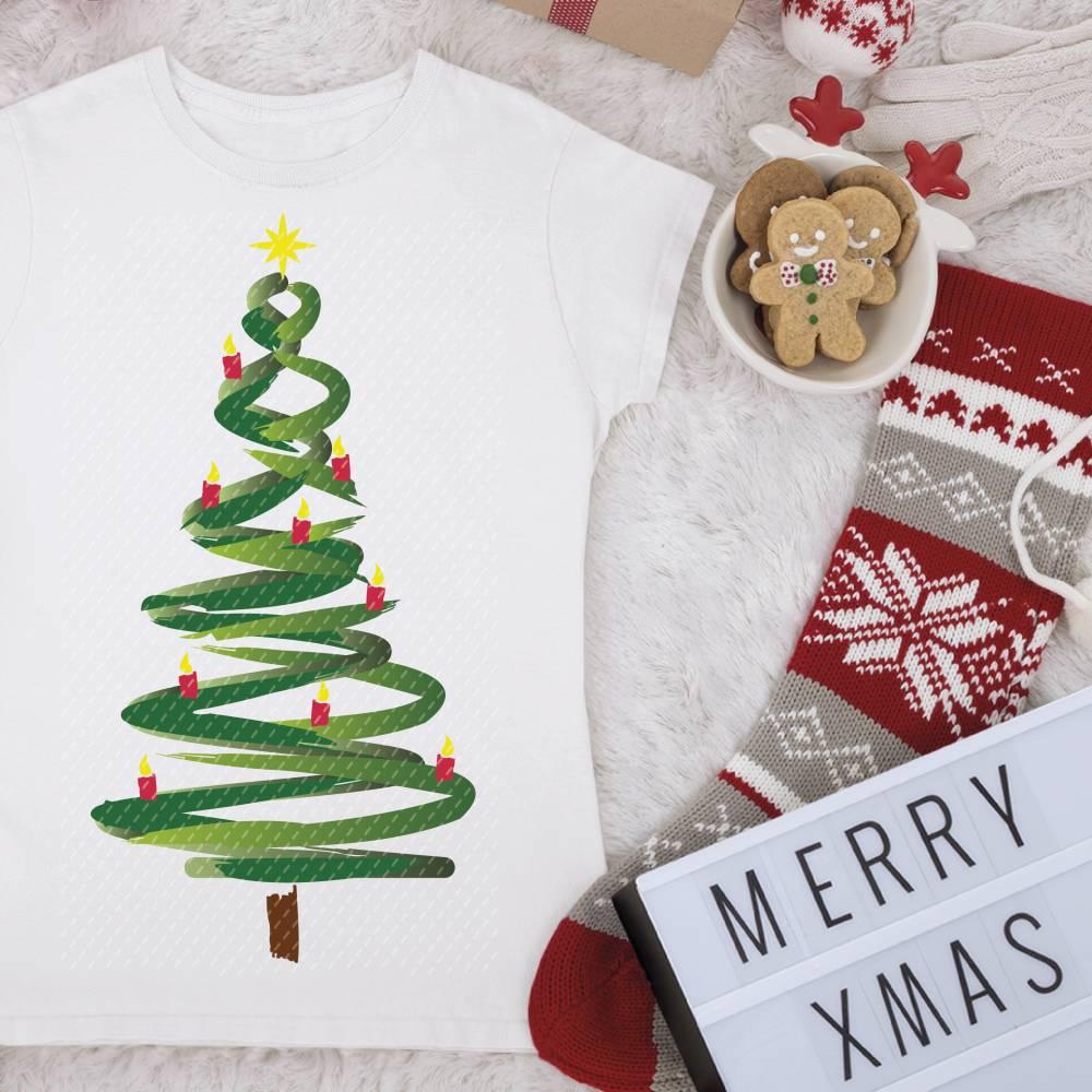Plotterdatei Weihnachtsbaum Bild 1