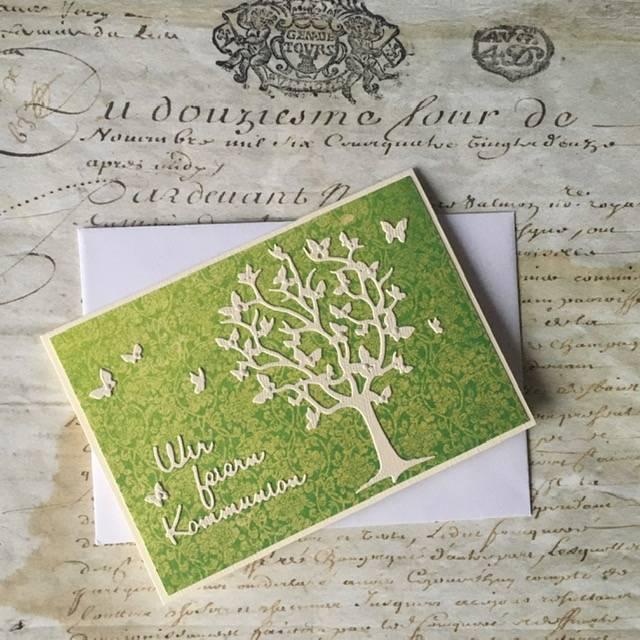 Einladungskarte zur Konfirmation, Konfirmationseinladung, Einladung zur Kommunion, auch Jugendweihe Bild 1