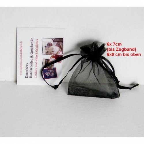Organzasäckchen, 5-er Set 6 x 9 cm cm, Organzabeutel schwarz, Schmuckverpackung, Schmuckbeutel zum Valetinstag, 5 Organzabeutel, 10 Organzabeutel, reduziert