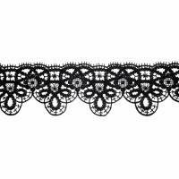 schwarze zarte Spitze Stickspitze 60 mm breit Gothic 2 Bild 1