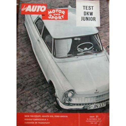 Auto Motor und Sport Heft 21-10 Oktober 1959