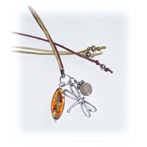 Lesezeichen Band 3-fach Libelle, Leseband