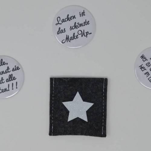 Taschenspiegel mit Filztäschchen