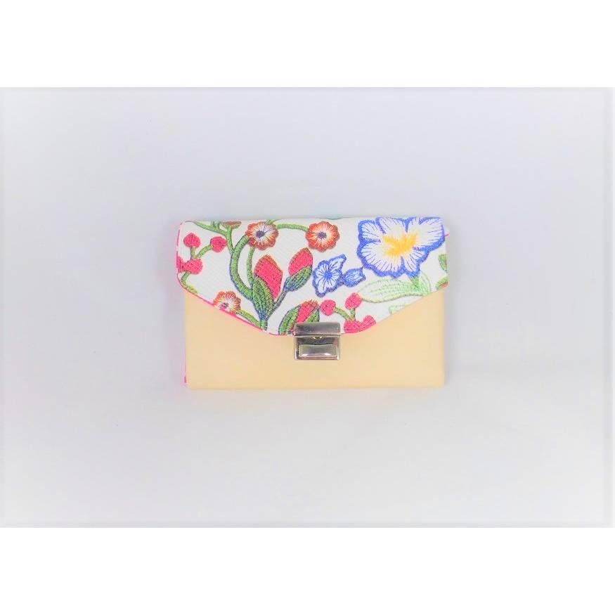 hübsche Geldbörse, Portmoney-Genius, aus Kunstleder bedruckt mit Blumen und Baumwollstoffen, Leiterschloss, 11 Kartenfächer, großer Geldbeutel, handgemacht von Dieda Bild 1