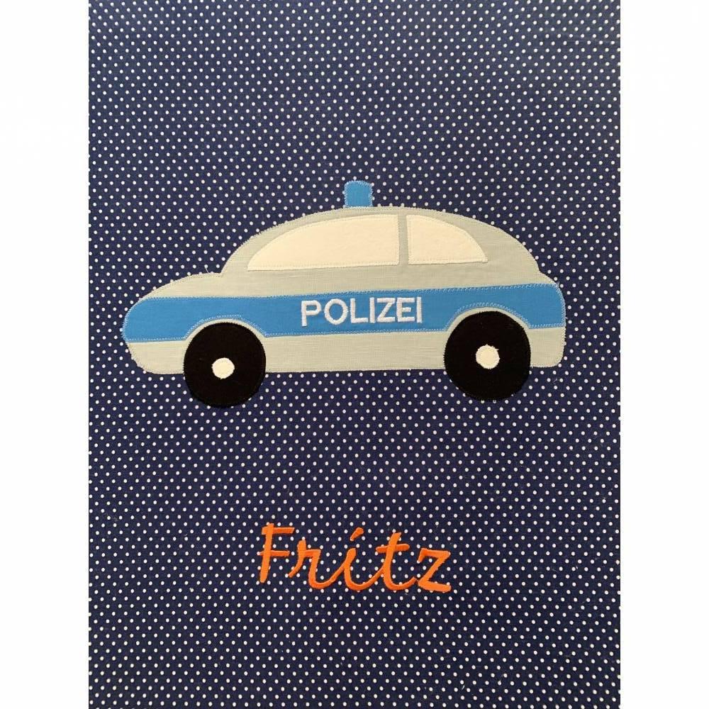 Babykuscheldecke Polizeiauto   Bild 1