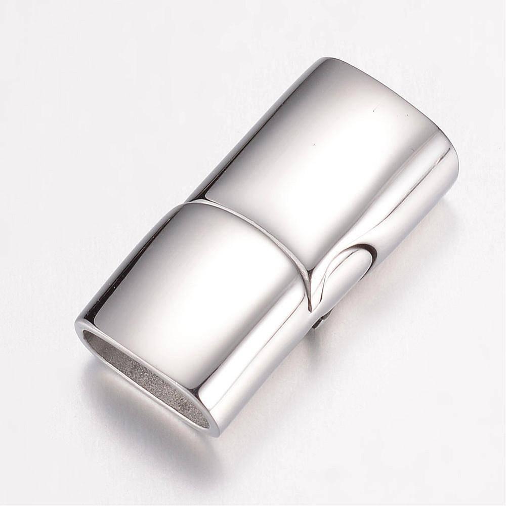 Edelstahl Magnetverschluss, Verschluss, Schmuckverschluss, Armband, Leder, matt oder glänzend Bild 1
