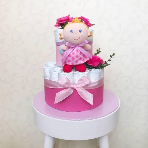 Windeltorte Schutzengelchen, rosa zur Geburt