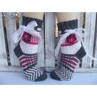 Handgestrickte Wollsocken in Fair Isle Technik  *Romantik - Socken* Gr.39 - 41 Bild 1