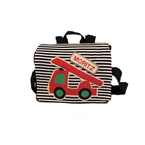 Kindergartenrucksack mit Feuerwehrauto