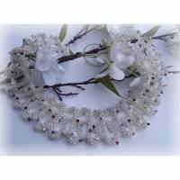 Nicht nur Brautschmuck! Besondere Kette für besondere Anlässe, Hochzeitsschmuck, Wellenkette mit Swarovski Bild 1