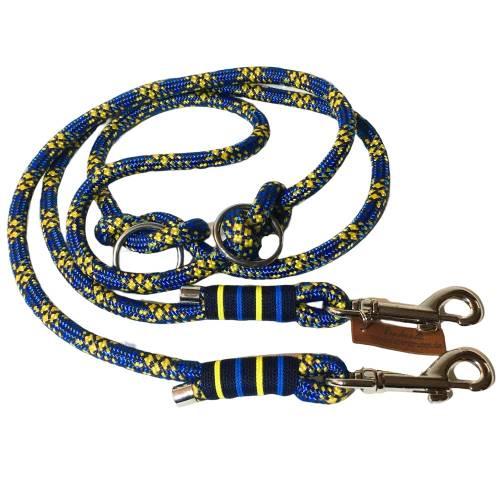 Hundeleine verstellbar Tau blau gelb dunkelblau AlsterStruppi
