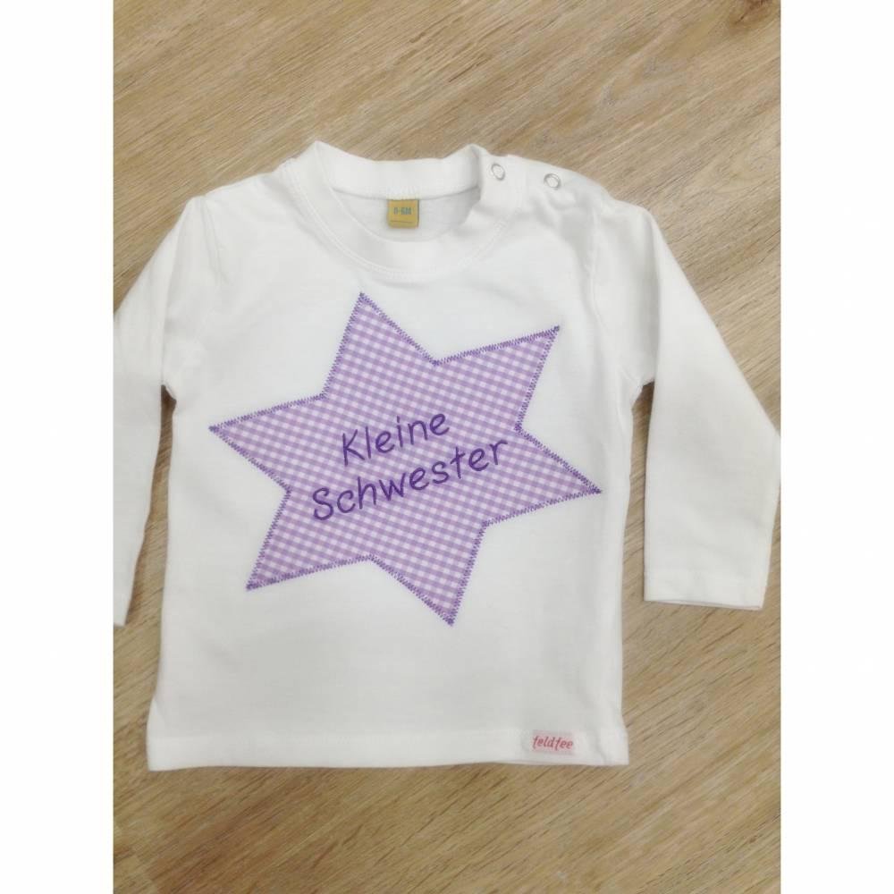 Geschwister-Shirt für kleine Schwestern Bild 1
