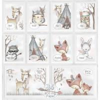 SPARPAKET selbst MIXEN (SET 30) Kinderzimmer Bilder Babyzimmer Bild Kunstdruck Waldtiere Reh Fox Eule Bär Tiere | A4 |  Bild 1
