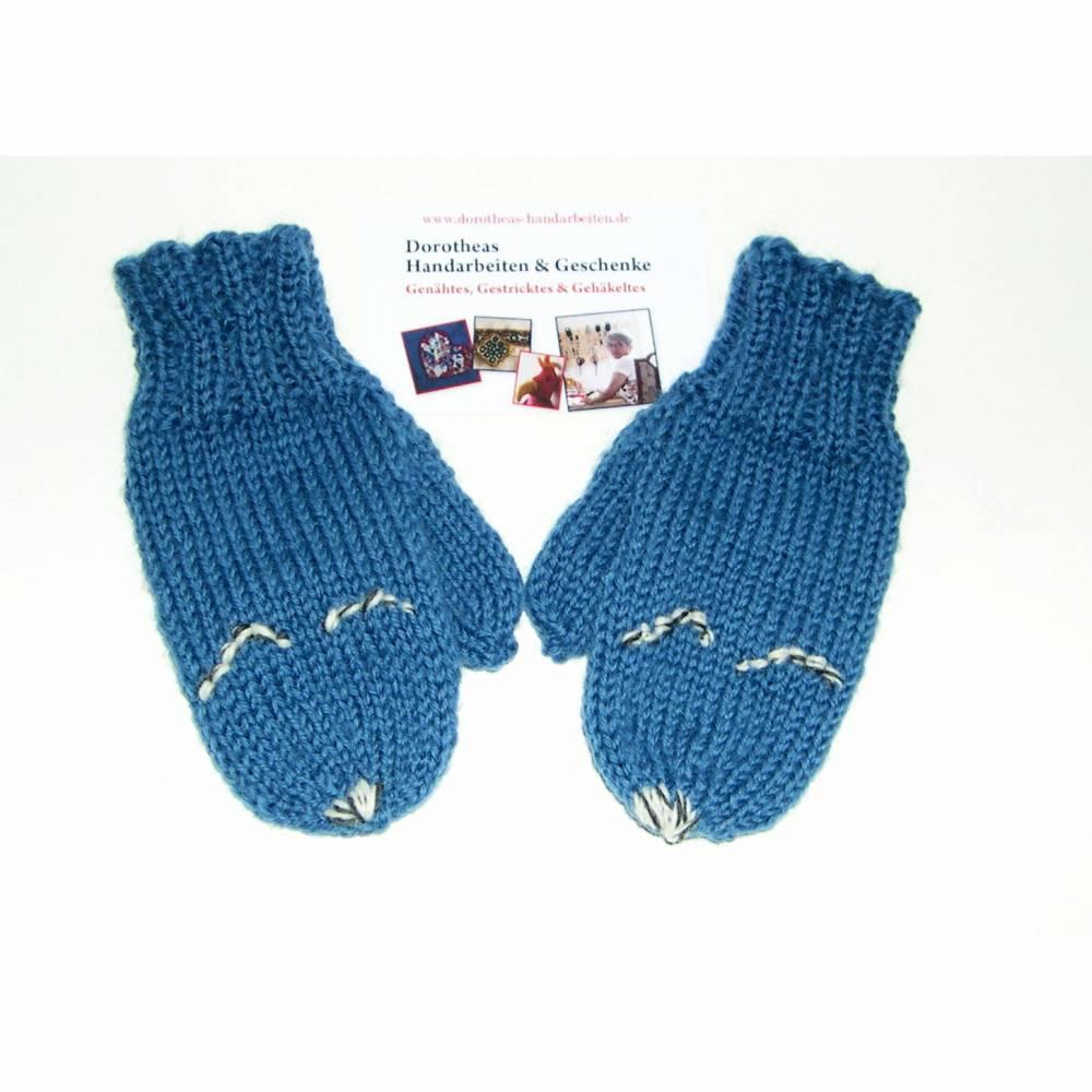 Baby-Handschuhe, Kinder-Handschuhe, Fäustlinge handgestrickt, Wollhandschuhe Baby und Kinder, Fausthandschuh  Bild 1