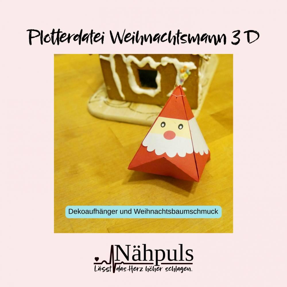 Plotterdatei Weihnachtsmann 3 D Bild 1