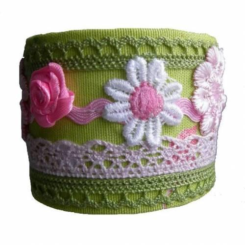Armband Trachtenschmuck grün rosa