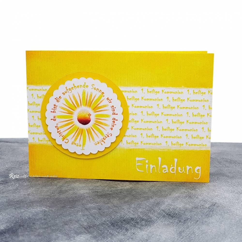 Einladungskarte Kommunion Sonne (2) Bild 1