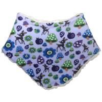 Baby-Halstuch (Teddy) mit Rehen, Pilzen und Blumen auf lila Bild 1