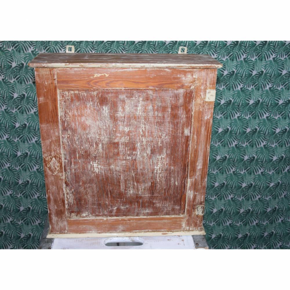 Luftschutz-Hausapotheke Vintage Holzschrank Shabby Chic Bild 1