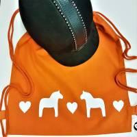 """Reithelm-Bag """"Ponyliebe"""" ~ orange /weiß  *personalisierbar mit Wunsch-Text Bild 1"""