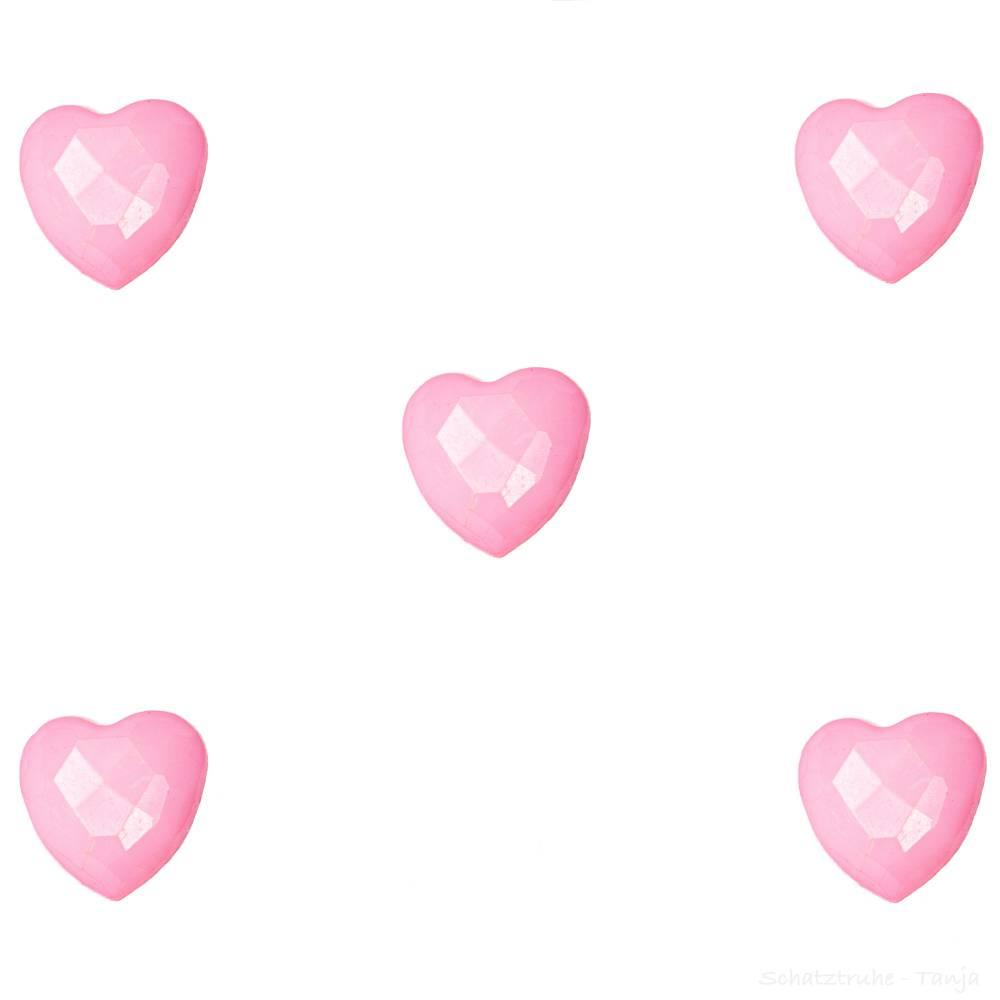 Kinderknöpfe Herzen als Kunststoffknöpfe in dunkelrosa 14 mm Bild 1