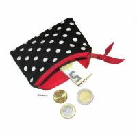 Minitasche Minibörse Geldbeutel Schlüsseletui *Rockabilly*black Bild 1