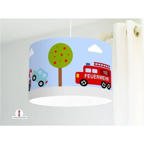 Lampe Kinderzimmer Auto Junge aus Baumwollstoff - alle Farben möglich