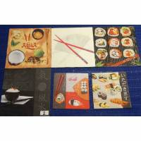 Sushi Asia Fingerfood Servietten Set  6 Motivservietten  Mix 2  Bild 1