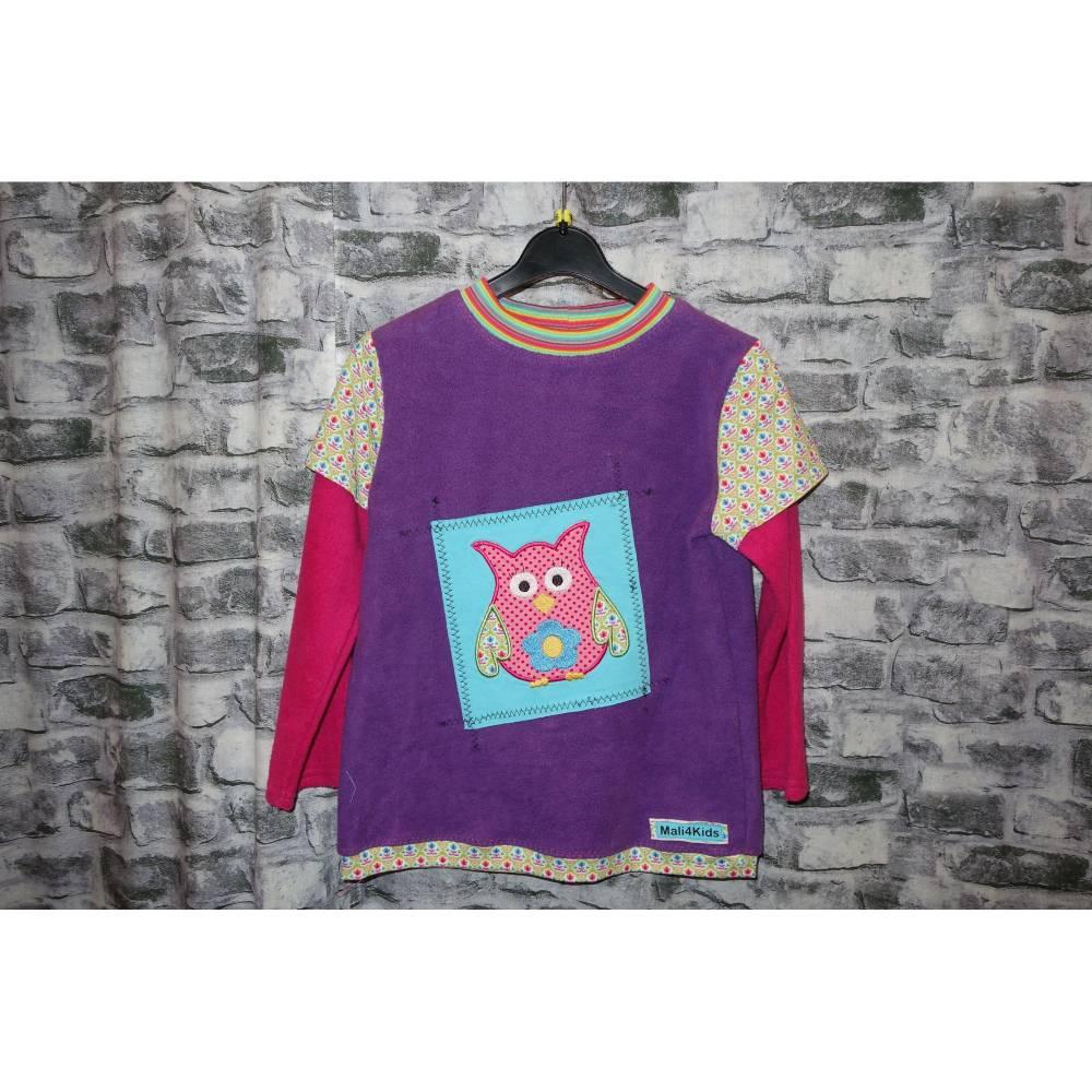 cooles Baumwollfleece Shirt mit Applikation in Gr. 116 Bild 1