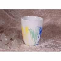 Handbemalte Tasse - Flowing Rainbow - FarbXplosion - Kaffeetasse - Teetasse - Kaffeebecher - Teebecher - Porzellantasse - Einzelstück Bild 1