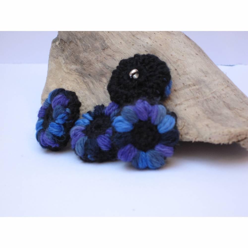 Blütenknöpfe, Häkelknöpfe, schöne Farbtupfer Bild 1