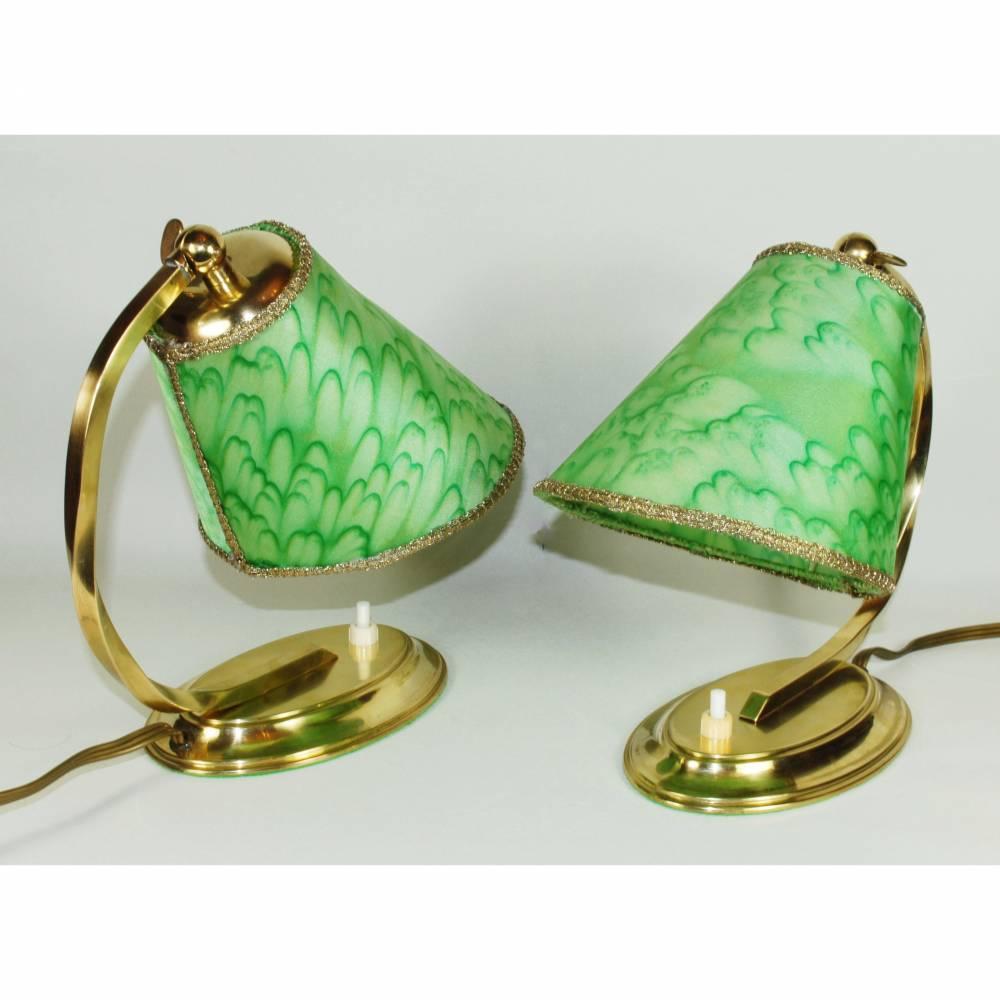 40er Jahre Tischlampen Paar  Bild 1