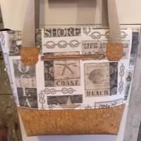 große Tasche, Shopper, Umhängetasche, Handtasche, Kork Bild 1