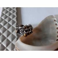 Silberring Ausgefallener Silberring Tigerauge Silber vintage Bild 1