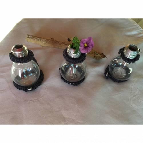 Vase aus Glühbirne Shabby