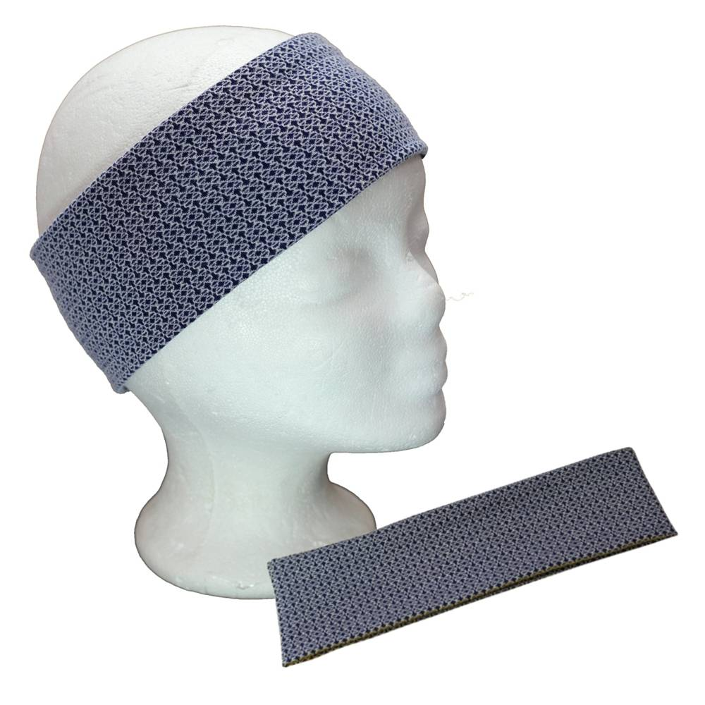 Haarband Frauen Stirnband Damen Jerseyhaarband Jersey maritim Blau Weiß Bild 1