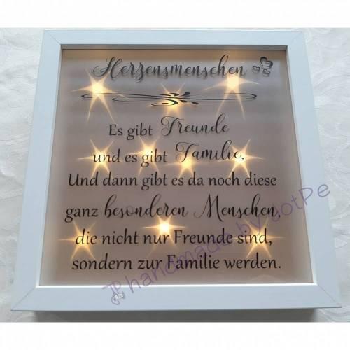 """Geschenk beste Freundin / bester Freund - Leuchtrahmen, Leuchtbild, beleuchteter Bilderrahmen """"beste Freunde""""/""""besondere Menschen"""""""