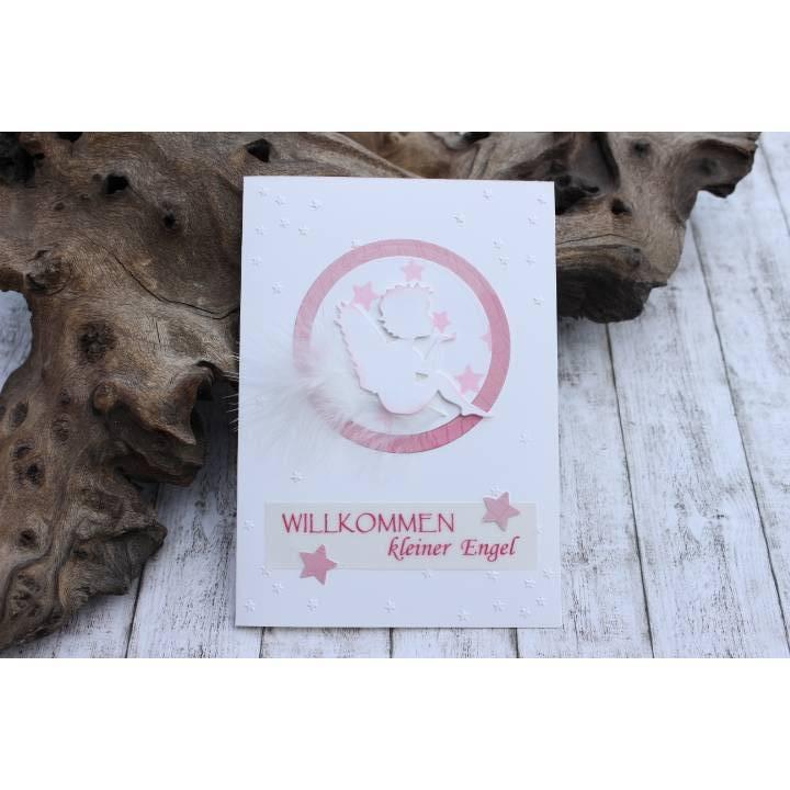 Glückwunschkarte zur Geburt mit Engel-Motiv, Babykarte, Karte zur Taufe Bild 1