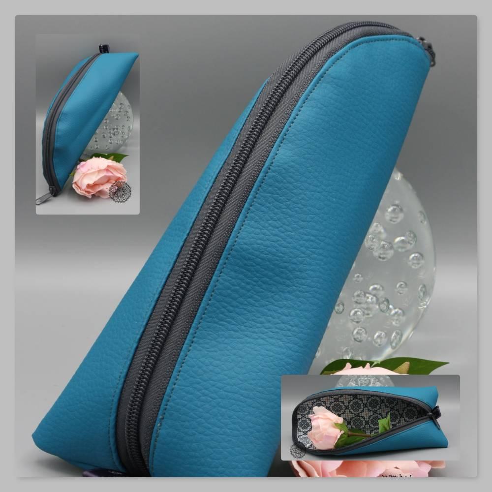 Mäppchen / Federmäppchen / Ideal für die Handtasche / Stiftemäppchen / Schlampermäppchen aus Kunstleder Bild 1