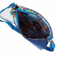 """handgefertigte Jeanstasche """" Tabby """" - eine farbenfrohe, einzigartige Handtasche die aus Upcycling entstanden is Bild 3"""