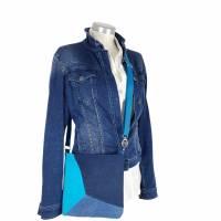 """handgefertigte Jeanstasche """" Tabby """" - eine farbenfrohe, einzigartige Handtasche die aus Upcycling entstanden is Bild 7"""
