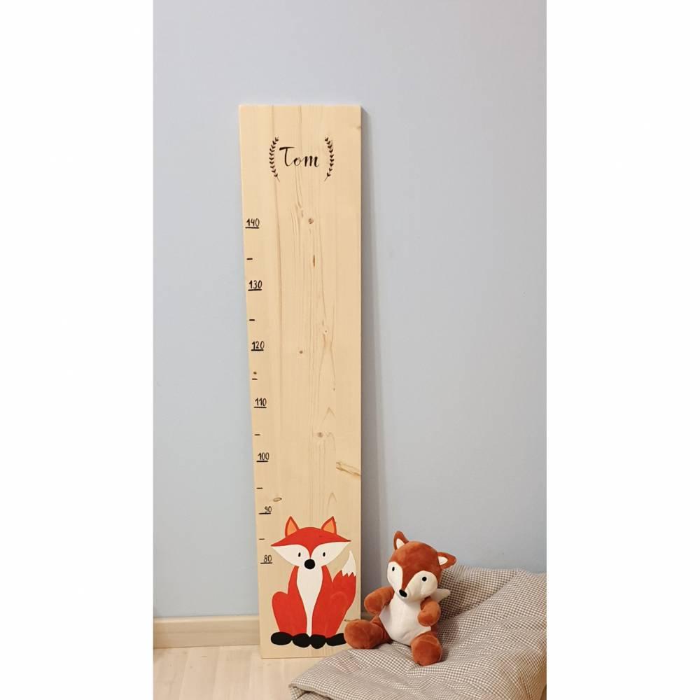 "Kindermesslatte ""Kleiner Fuchs"" aus Holz  Bild 1"