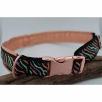 Hundehalsband Glitzer Zebraprint verstellbar gepolstert  Bild 1