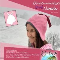 (Erwachsenen) Ohrenmütze groß Noah, KU. 53-66, Privatlizenz Bild 1
