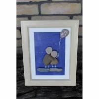 Kieselsteinbild Luftballon als Erinnerung an dein Sternenkind Bild 1