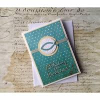 Einladungskarte zur Kommunion, Konfirmation, Taufe mit Ichthys, Einladungskarten Bild 1