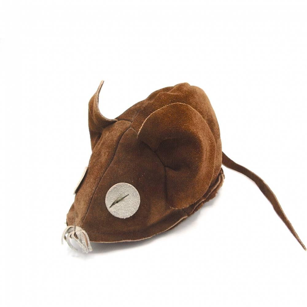 Vintage Maus Wildleder braun Spielzeug Waldtiere Natur-Liebhaber Sammlerstück 80er Jahre Bild 1