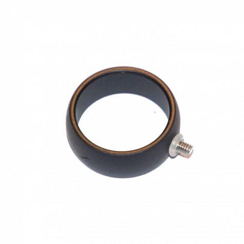 Wechselring mit Schraubgewinde - 8 mm breit - für z.B. Ringtops (schwarz)