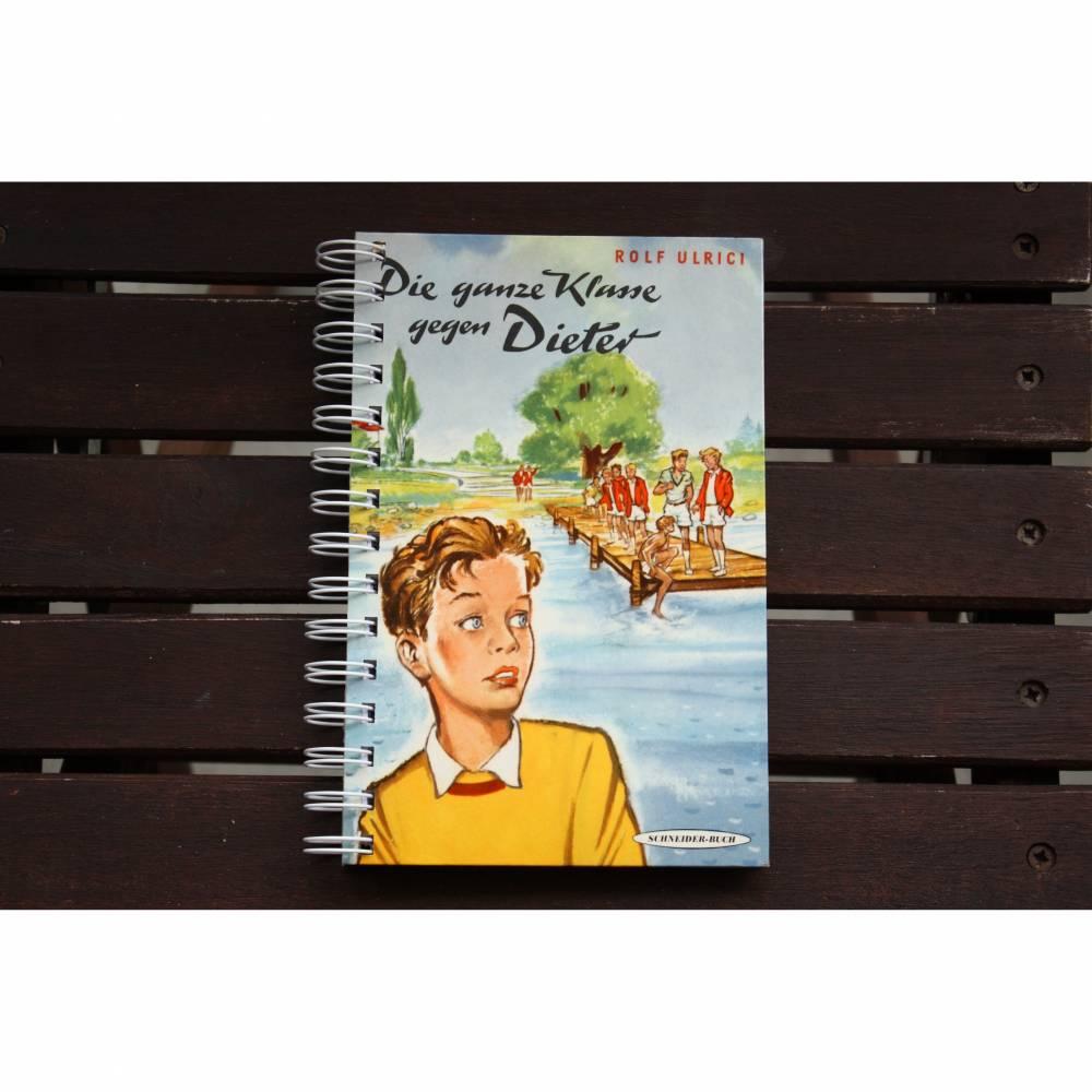 """Notizbuch """"Dieter"""" aus altem Kinderbuch Bild 1"""